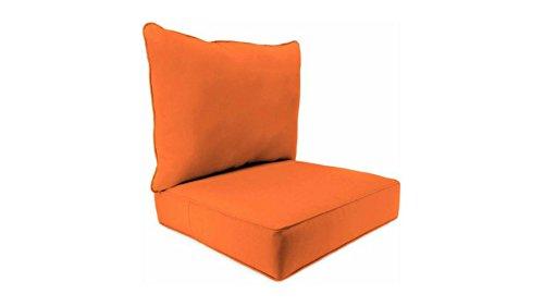 Indoor Fresco Mandarin Deep-Seat Poly-wrapped Foam Cushions, 100 Percent Polyester Fabric by Jordan*