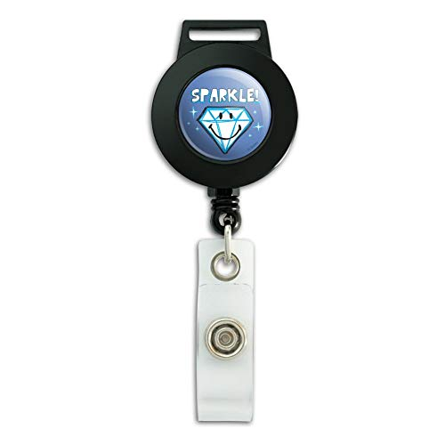 Sparkle Diamond Smiley Face Wedding Anniversary Officially Licensed Lanyard Retractable Reel Badge ID Card Holder ()