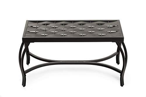 Mango Steam Weave Bench Bronzed Black