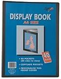 Tiger 300933 40 A4 Pocket Presentation Display Book - Black