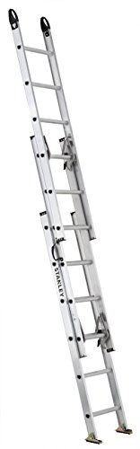 Stanley SXL2226-16PG ft 225-lb Aluminum Compact Triple Extension Ladder 16-Foot 225-Pound Load Capacity, Silver