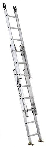 Stanley SXL2226-16PG ft 225-lb Aluminum Compact Triple Extension Ladder 16-Foot 225-Pound Load Capacity 16' Silver