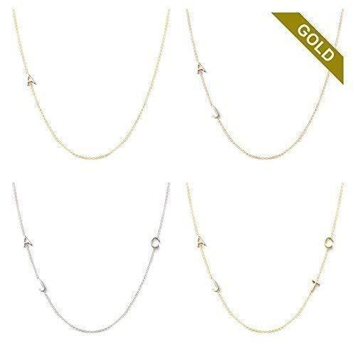 14k gold asymmetrical mini letter necklace sideways initial necklace letter necklace bridesmaids gifts