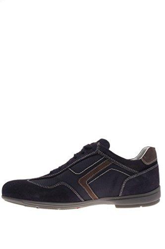 Nero Giardini Herren Sneaker p603990u-200Sneaker Wildleder und Stoff Blau
