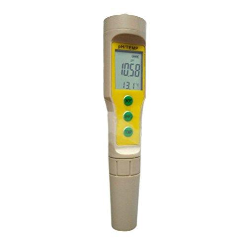 huanhuatiancheng Digital LCD PH Meter Aquarium Pool Water Wine Urine Tester Analyzer (yellow) by huanhuatiancheng