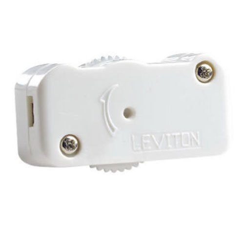 Leviton Mfg Co L02-01420-00W Cord Dimmer, 200-watt, White (Tabletop Dimmer)