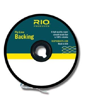 Rio Fly Fishing Backing Dacron 20Lb 100 yd. Fly Tying Equipment, Orange ()