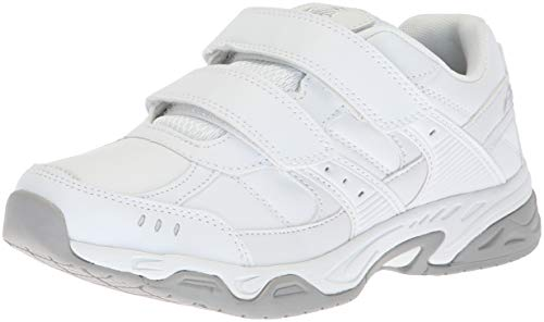 Avia Women's Avi-Union Strap II Food Service Shoe, White/Chrome Silver, 9 Wide US