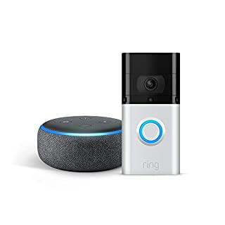 All-new Ring Video Doorbell 3 Plus with Echo Dot (Charcoal)