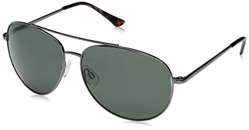 Columbia Men Aviator - Columbia Canyons Bend Polarized Aviator Sunglasses, Shiny Gunmetal, 60 mm
