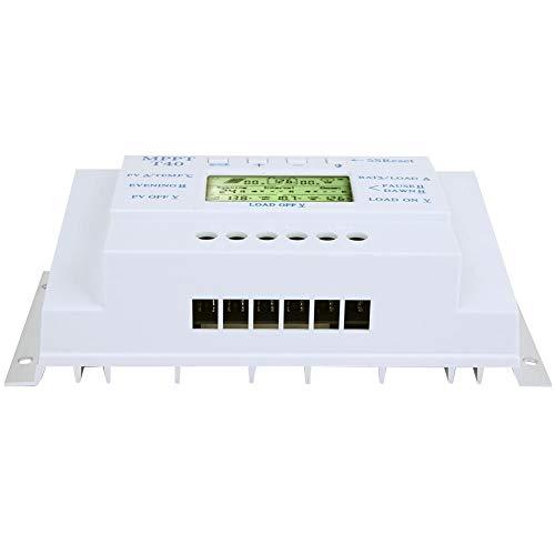 Solarladeregler, Solarladeregler 40A MPPT 12V/24V Solarladeregler LCD-Anzeige für Straßenlaterne