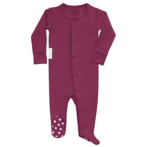 Organic Baby Onesie Footed Pajamas | Unisex Sleeper Clothes USA Grown -