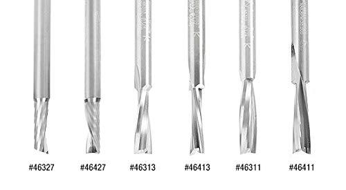 46327 Solid Carbide Slow Spiral O Flute Acrylic Cutting 1//4 Dia x 3//4 x 1//4 I Amana Tool