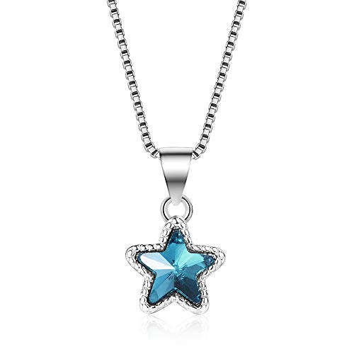 Five-pointed star collarbone chain azure mini star crystal - Crystal Tipperary Star