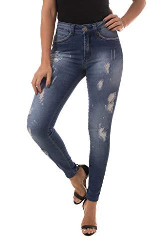 Calça Jeans Denuncia Mid Rise Skinny Azul 36