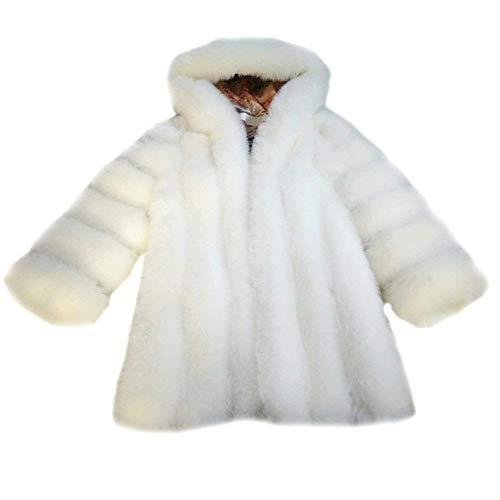 Haidean Pelliccia Bianca Invernali Puro Autunno Donna Ecopelliccia Giacca Di Oxra4OqW