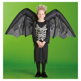 adult or child gemmy unisex blackgrey inflatable bat wings halloween costume