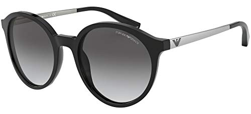 Emporio Armani EA4134 501711 Black EA4134 Round Sunglasses Lens Category 2 Size