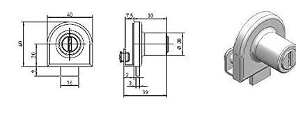 Ojmar 5917 – 201 ni cerradura con 2 llaves