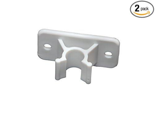 RV Designer E242, Plastic Door Holder, Clip Only, White, 2 Per Pack, Entry Door Hardware