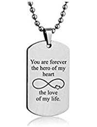 925 Sterling Silver Personalized Dog Tag Necklace Custom Text Message Engraved Dog Tag Necklace Pendant
