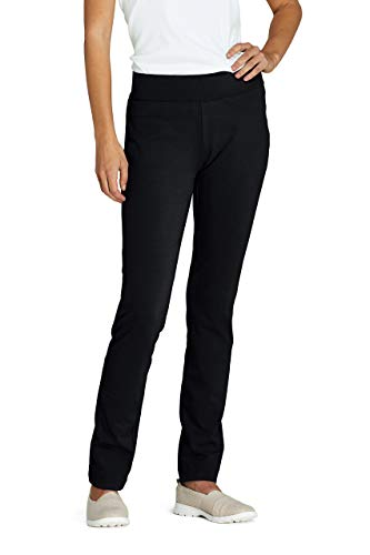 Lands' End Women's Starfish Mid Rise Slim Leg Elastic Waist Pull On Pants Large Black from Lands' End