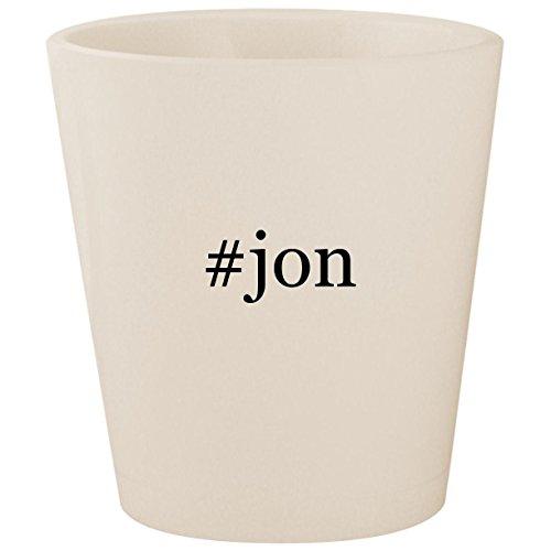 Price comparison product image #jon - White Hashtag Ceramic 1.5oz Shot Glass