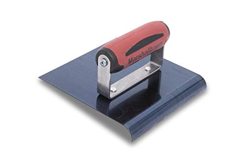 - MARSHALLTOWN The Premier Line 163BD 6-Inch by 6-Inch Blue Steel Edger with DuraSoft Handle