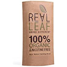 Real Leaf - Natural Herbal Smoking Blend for Rolling Tobacco & Nicotine Free Cigarettes - Organic