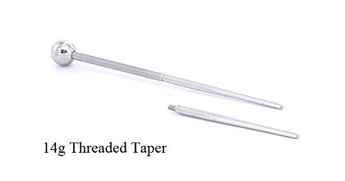 14g 1 inch Threaded Taper ()