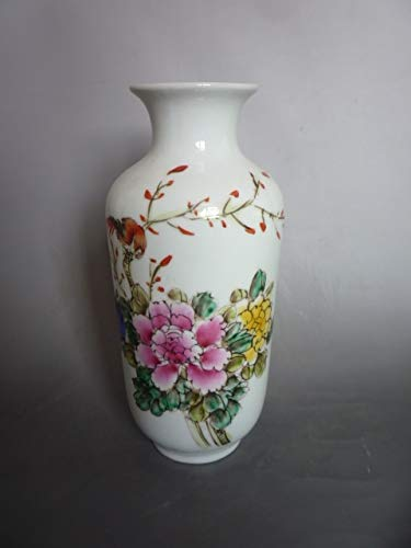 BeesClover Rare Collection Qianlong famille Rose Porcelain Bird Pattern vase, Best Collection& Adornment, Show