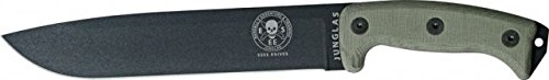 ESEE Junglas Blade with Kydex Sheath & Canvas Micarta Handles, Black