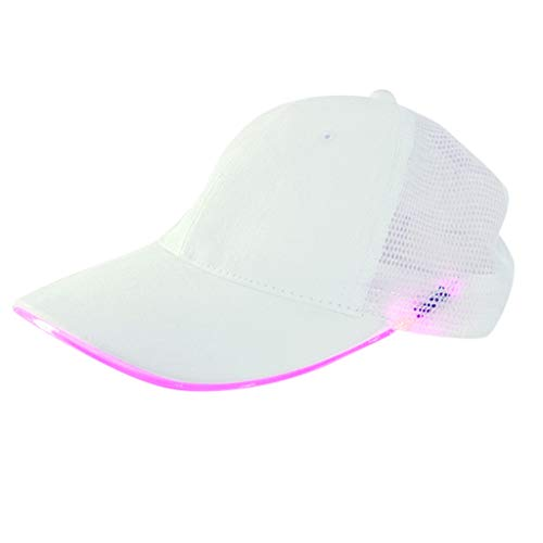 LED Lighted Up Hat Glow Club Party Baseball Hip-Hop Cotton Adjustable Sports Cap Pink (Pink Panther Club Cover)