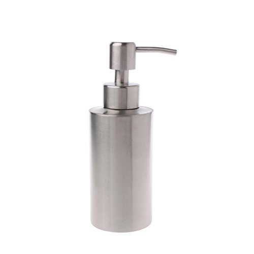 BetterM 304 Stainless Steel Liquid Soap Lotion Dispenser Bottle Pump for Kitchen Bathroom (250 ml)