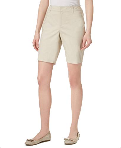 (Charter Club Womens Slimming Everyday Khaki Shorts Beige 16)