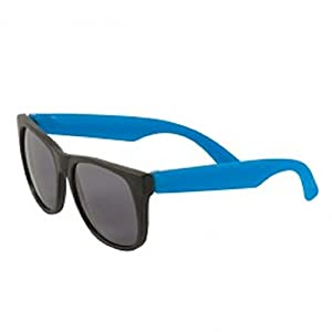 150 Custom Two Tone Matte Sunglasses Imprinted with Your Text (Blue)