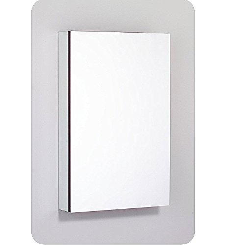 (Robern PLM2030WRE Pl-Series Right-Side Flat Mirror Medicine Cabinet with Outlet, White)