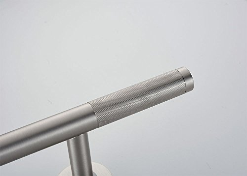 Sanliv Knurled Brass Shower Shaving Foot Rest for Hotel Bathrooms in Brushed Nickel Finish by SANLIV (Image #2)