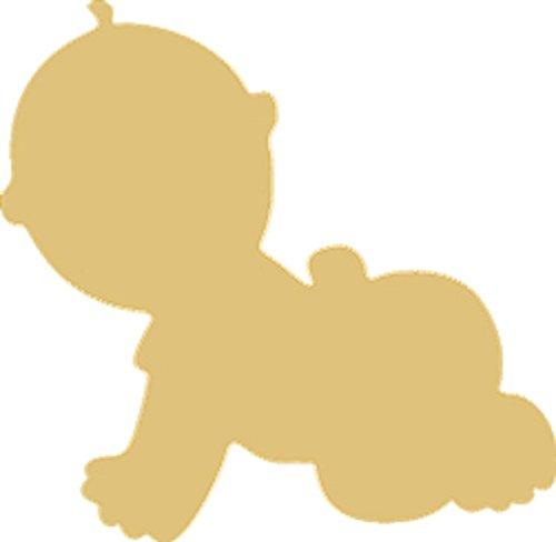 (Baby Cutout Unfinished Wood Infant Toddler Kid Child Newborn MDF Shape Canvas Style)