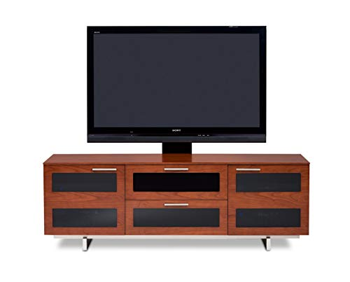 - BDI Avion 8927 Triple Wide Entertainment Cabinet, Natural Stained Cherry