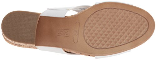 outlet eastbay buy cheap for cheap Aerosoles Women's Midday Slide Sandal White Fabric outlet explore shopping online original VFAos