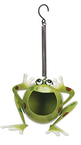 Sunset Vista Designs Medium Froggy Solar Bouncy Hanging Decoration ()