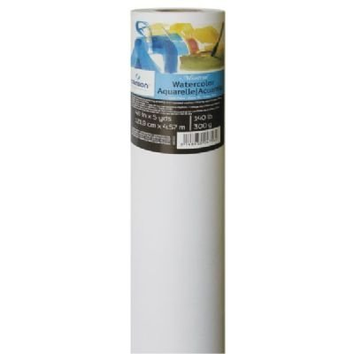 Canson Artist Series Montval Watercolor Paper, Cold Press, 140 Pound, 48 Inch x 5 Yard Roll