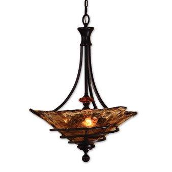 Vitalia 3 Light Pendant - Uttermost Vitalia 3 Lt Oil Rubbed Bronze Pendant
