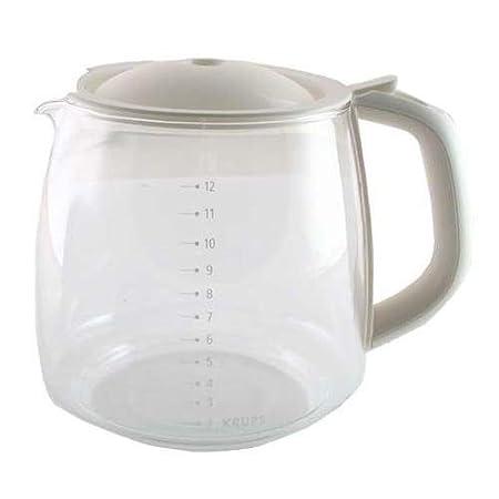 Krups f15b0g, jarra de vidrio, 12 tazas), color blanco: Amazon.es ...