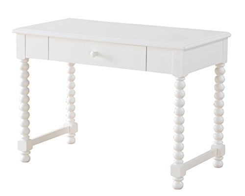 igns - White Finish Wood Jenny Lind Writing Desk ()