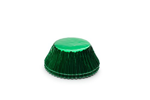 Fox Run 6980 Green Foil Bake Cups, Standard, 32 Cups -