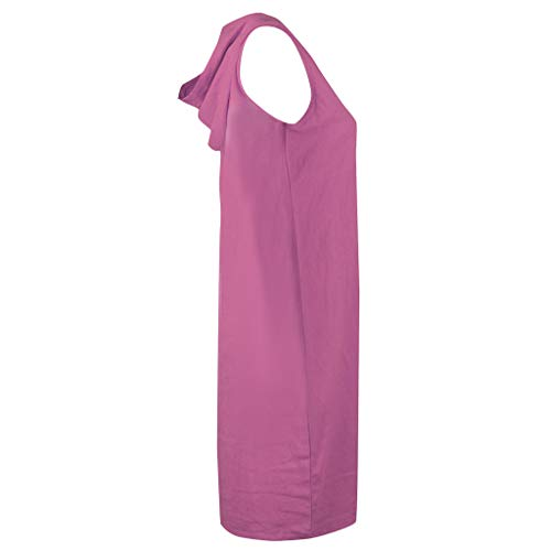 Zaidern Women Dress Sexy Women's Casual Sleeveless Solid Color V Neck Hooded Dress Beach Summer Dresses Purple by Zaidern_Dresses (Image #2)