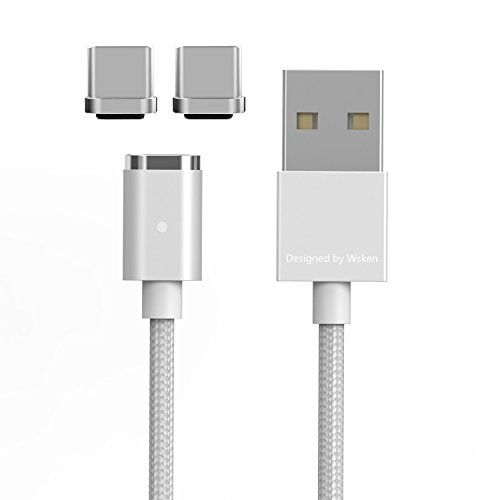 WAMTRONICS Wsken Mini2 USB Type C Cable PowerLine USB C for Samsung Galaxy S8, S8+, MacBook, Google Pixel, Nexus 6P, LG V20 G5, HTC 10 and more Cable + 2 Adapter