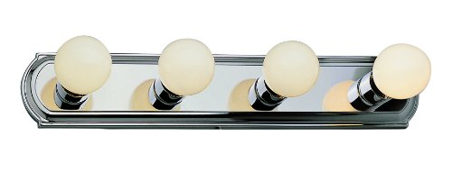 Trans Globe Lighting 3224 ROB 4-Light Racetrack Bathroom Bar Light, Rubbed Oil Bronze Bronze Four Light Vanity Strip